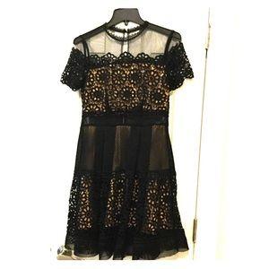 Bloomingdales Aqua dress EUC